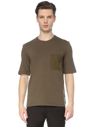 Neil Barrett Neil Barrett  Bisiklet Yaka Cep Detaylı T-shirt 101633714 Haki